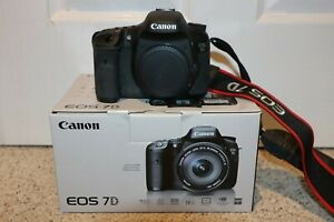 CANON EOS 7D DSLR CAMERA BODY ONLY   ORIGINAL PACKAGING   MORE