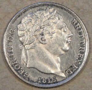 GREAT BRITAIN 1816 SIX PENCE AS PICTURED