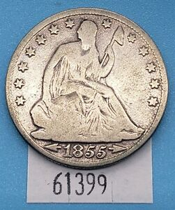 WEST POINT COINS   1855 O SEATED LIBERTY HALF DOLLAR