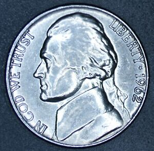1962 D JEFFERSON NICKEL   CIRCULATED   GOOD/ABOVE AVERAGE CONDITION