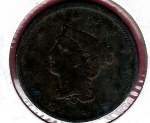 1840 LARGE DATE BRAIDED HAIR LARGE CENT GRADES GOOD DETAIL C3590