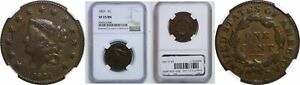 1831 LARGE CENT NGC VF 25 BN