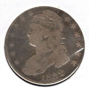 1832 CAPPED BUST HALF DOLLAR GRADES VG/G NICE TYPE COIN HERE C1744