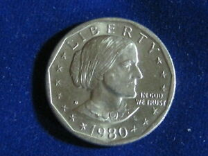 US 1980 D  SUSAN B. ANTHONY DOLLAR COIN   CIRCULATED