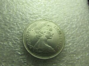 GREAT BRITAIN COIN 1968. 10 PENCE  ELIZABETH II   LION WITH CROWN