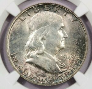 1949 P 1949 FRANKLIN HALF DOLLAR NGC MS63 FBL