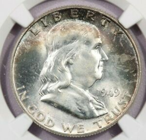 1949 P 1949 FRANKLIN HALF DOLLAR NGC MS64 FBL