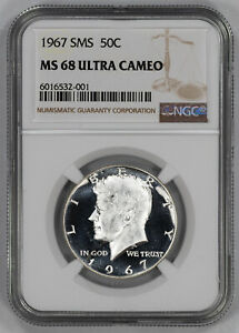 Click now to see the BUY IT NOW Price! 1967 SMS KENNEDY HALF DOLLAR 50C NGC MS 68 MINT STATE UNC   ULTRA CAMEO  001