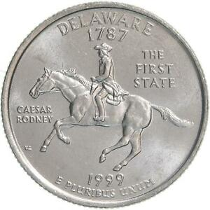 1999 P STATE QUARTER DELAWARE CHOICE BU CN CLAD US COIN