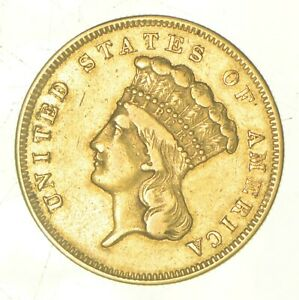 1856 S $3.00 INDIAN PRINCESS HEAD GOLD  5798