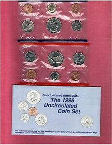1998 U.S. MINT SET IN ORIGINAL PACKING NICE QUALITY SET HERE FL760