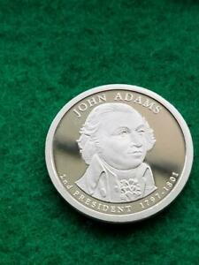 2007  S  JOHN ADAMS   PROOF  PRESIDENTIAL DOLLAR COIN