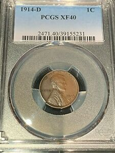 1914 D PCGS XF 40 WONDERFUL  DATE PENNY TOUGH  DATE MINT COMBO TO FIND