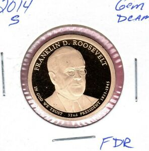 2014  S FRANKLIN ROOSEVELT DOLLAR GEM PROOF DEEP CAM   C3093FL
