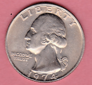 1974 WASHINGTON QUARTER IN BU CONDITION   PLEASE SEE THE SCAN         STK 1