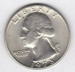 1973 WASHINGTON QUARTER IN BU CONDITION   PLEASE SEE THE SCAN    STK