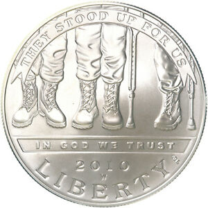 2010 W AMERICAN DISABLED VETERANS BU COMMEMORATIVE 90  SILVER DOLLAR COIN