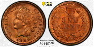 Click now to see the BUY IT NOW Price! 1896 1C INDIAN HEAD CENT PCGS MS 65 RD UNCIRCULATED RED SECURE LABEL HOLDER