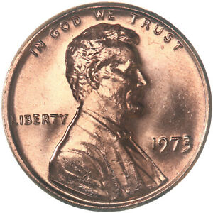 1973 LINCOLN MEMORIAL CENT CHOICE BU PENNY US COIN