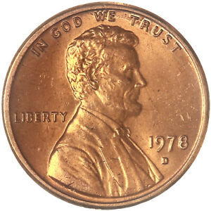 1978 D LINCOLN MEMORIAL CENT CHOICE BU PENNY US COIN