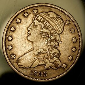 1835 CAPPED BUST QUARTER   NICE XF