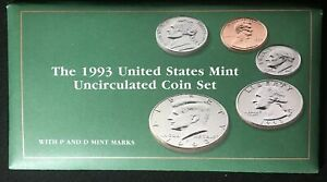 1993 P & D UNCIRCULATED MINT SET IN OGP  10 COINS W/ KENNEDY 50C