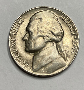 FREE SHIP  1953 S JEFFERSON NICKEL   SAN FRANCISCO MINT   BETTER CIRCULATED COIN
