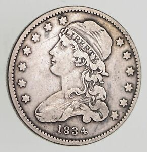 1834 CAPPED BUST QUARTER   CIRCULATED  7782