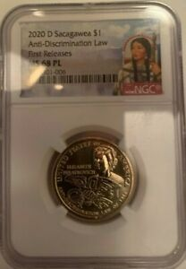 Click now to see the BUY IT NOW Price! 2020D SACAGAWEA $1 ANTI DISCRIMINATION LAW NGC MS 68 PL PROOF LIKE 1ST RELEASES
