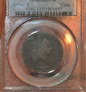 1793 1C CHAIN CENT AMERICA LARGE CENT SHELDON 3 R3  PCGS F12   2 DAYS ONLY