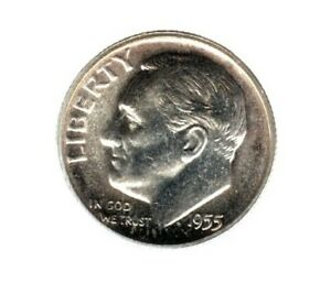 1955 ROOSEVELT DIME A NICE GEM PROOF COIN HERE SOME TONING C919