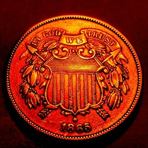 1865 TWO CENT PIECE   CHOICE BU RED   2
