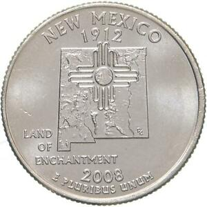 2008 P STATE QUARTER NEW MEXICO BU CN CLAD US COIN
