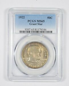 Click now to see the BUY IT NOW Price! MS65 1922 GRANT STAR COMMEMORATIVE HALF DOLLAR   GRADED PCGS  8139