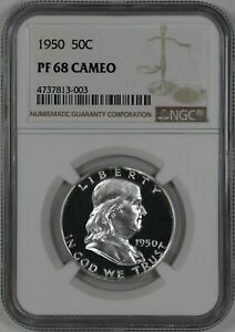 Click now to see the BUY IT NOW Price! 1950 PROOF FRANKLIN HALF DOLLAR 50C NGC CERTIFIED PR PF 68 CAM CAMEO  003