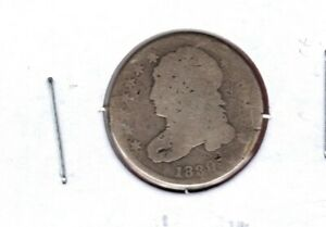 1830 SMALL C CAPPED BUST SILVER DIMEGRADES ALMOST GOOD READ  C4146