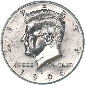 1996 D KENNEDY HALF DOLLAR ABOUT UNCIRCULATED AU