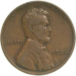 1936 LINCOLN WHEAT CENT FINE PENNY FN