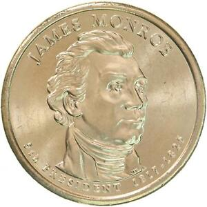 2008 D PRESIDENTIAL DOLLAR JAMES MONROE CHOICE BU CLAD US COIN