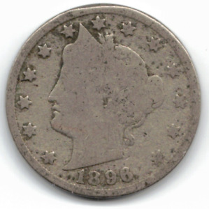 1896 LIBERTY NICKEL IN GOOD CONDITION   PLEASE SEE THE SCAN      STK N9