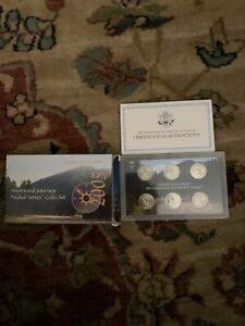 2005 WESTWARD JOURNEY NICKEL SERIES COIN PROOF SET WITH COA  6 COINS