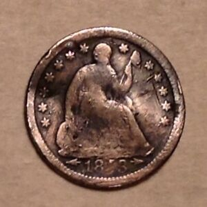 1853 SEATED  LIBERTY HALF DIME  WITH ARROWS