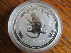 Click now to see the BUY IT NOW Price! 2004 PERTH MINT 1OZ SILVER LUNAR MONKEY COIN SERIES 1