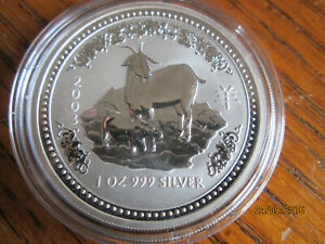 Click now to see the BUY IT NOW Price! 2004 PERTH MINT 1OZ SILVER LUNAR GOAT COIN SERIES 1