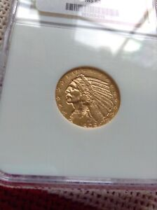 1909 D GOLD US $5 DOLLAR INDIAN HEAD HALF EAGLE COIN NGC MINT STATE 63
