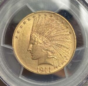 1911 GOLD $10 INDIAN. PCGS MS63