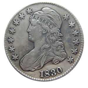 CAPPED BUST HALF DOLLAR 1825 OVERTON 111 DOUBLED 50C ERROR