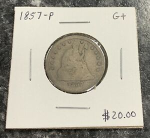 1857 P U.S. LIBERTY SEATED QUARTER   GOOD  CONDITION  $2.95 MAX SHIPPING  C3942