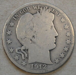 1912 S BARBER HALF DOLLAR AS PICTURED