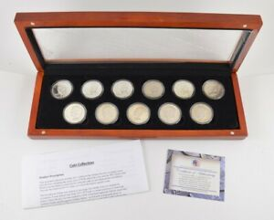 LOT  11  1971 1978 EISENHOWER DOLLARS   PROOF CLAD AND SILVER SET  9491